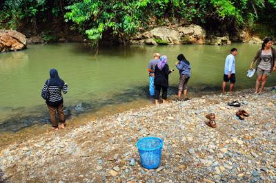 Kawasan Sungai Yang Dijadikan Tagal Di Kampung Luanti Ranau
