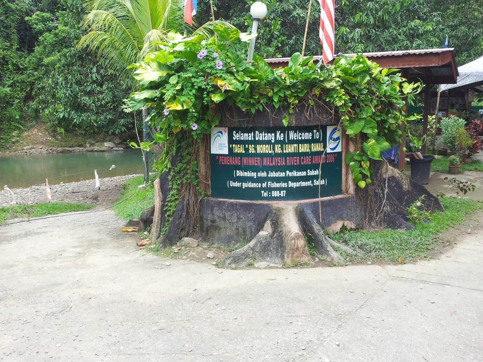 Papan Tanda Tagal Sungai Moroli Kampung Luanti Ranau