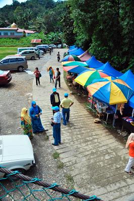 Pemandangan Ke Kawasan Tagal Di Ranau Sabah