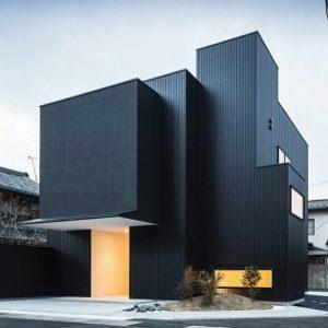 Rumah Bentuk Moden Warna Hitam