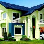 Rumah Warna Hijau Biru