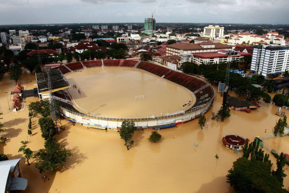Bencana banjir pada tahun 2014 telah melumpuhkan bandar Kota Bharu, Kelantan