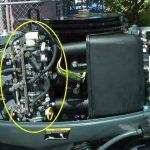 Contoh kedudukan kaburator pada enjin sangkut