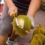 Minta peniaga untuk melihat ulas isi durian