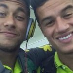 Neymar and his friend selfie