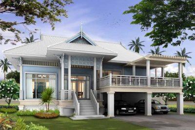 Rumah sederhana tinggi gaya mewah.