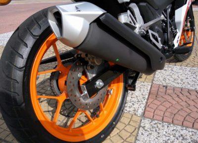 Saiz tayar Honda RS150R