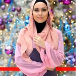 Gambar Siti Saleha bertudung.