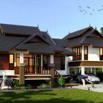 Rekabentuk rumah bungalow menarik Thailand.
