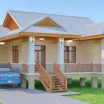 Rumah bungalow corak kampung.
