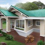 Rekabentuk rumah bungalow menarik tapak tinggi.