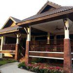Rumah bungalow rekabentuk resort