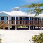 Rumah resort tepi pantai.