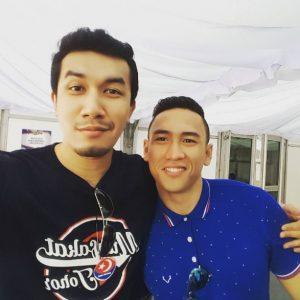 Ungku Ismail bergambar dengan Raja Afiq