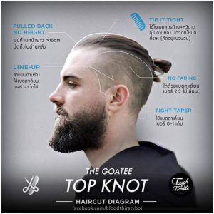 The Goatee Top Knot Hair Style
