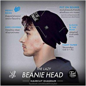 The Lazy Beanie Head Hair Style