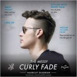 The Messy Curly Fade Hair Style