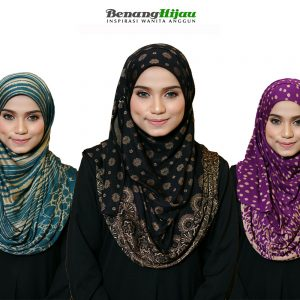 Koleksi Tudung Muslimah Benang Hijau