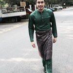 Gambar Aiman Hakim Ridza Pakai Baju Melayu