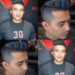 Rambut Aaron Aziz Tuan Ihsan