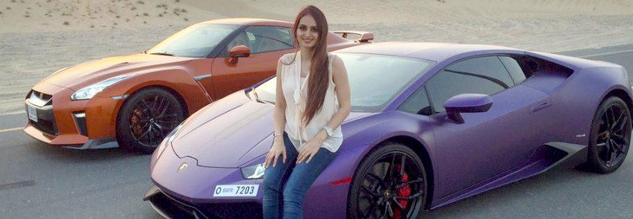 Foto Purple Lamborghini Dan Nissan Skyline R35 Lana Rose