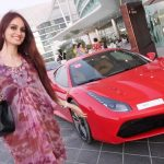 Lana Rose Dengan Kereta Ferarri 458