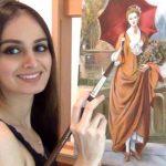 Lana Rose Seorang Pelukis Cat Minyak