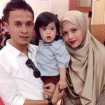 Foto Keluarga Zahiril Adzim, Shera Dan Anaknya