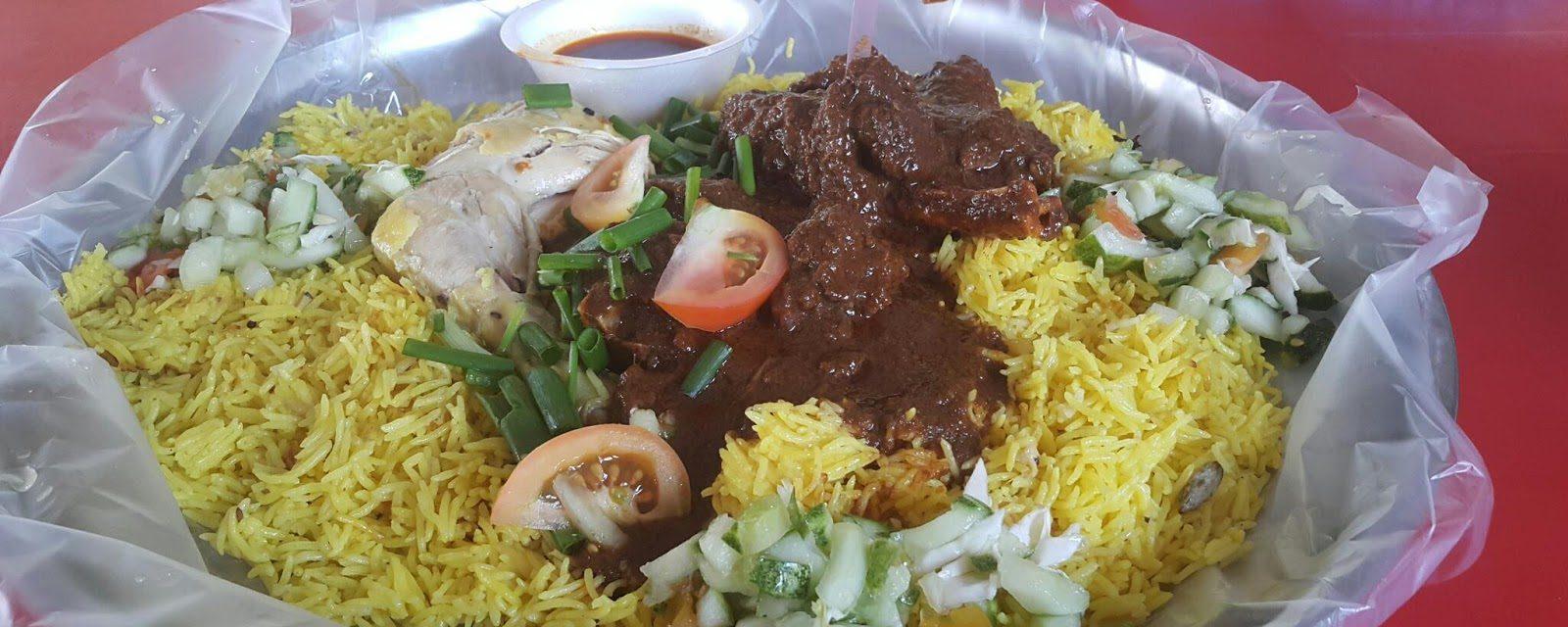 Hidangan Nasi Kari Kambing Feat