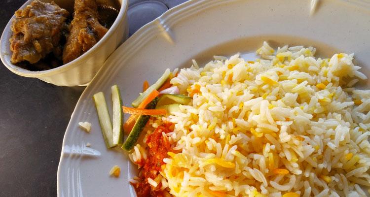 Resipi Nasi Minyak Terengganu Bersama Gulai Ayam