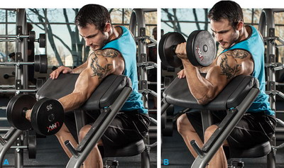 One Arm Dumbell Preacher Arm Workouts For Men