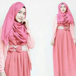 Pink Dress Hijab
