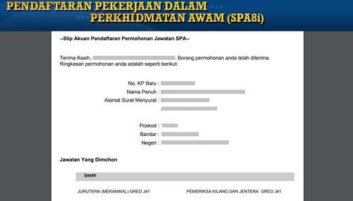 Tatacara Mengisi Borang Spa8i Online Memohon Jawatan Dalam
