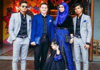 Gambar Ahli Keluarga Che Ta Dan Zain Saidin Bersama Anak Anaknya
