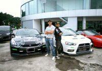 Kereta sport Zizan Razak (EVO 10) dan Aaron Aziz (Skyline  R35 GTR)