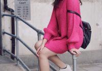 Gambar Nelydia Senrose Memakai Skirt Pink