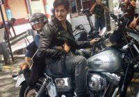 Pelakon Kacak Fadlan Hazim Dengan Motosikal Harley Davidson